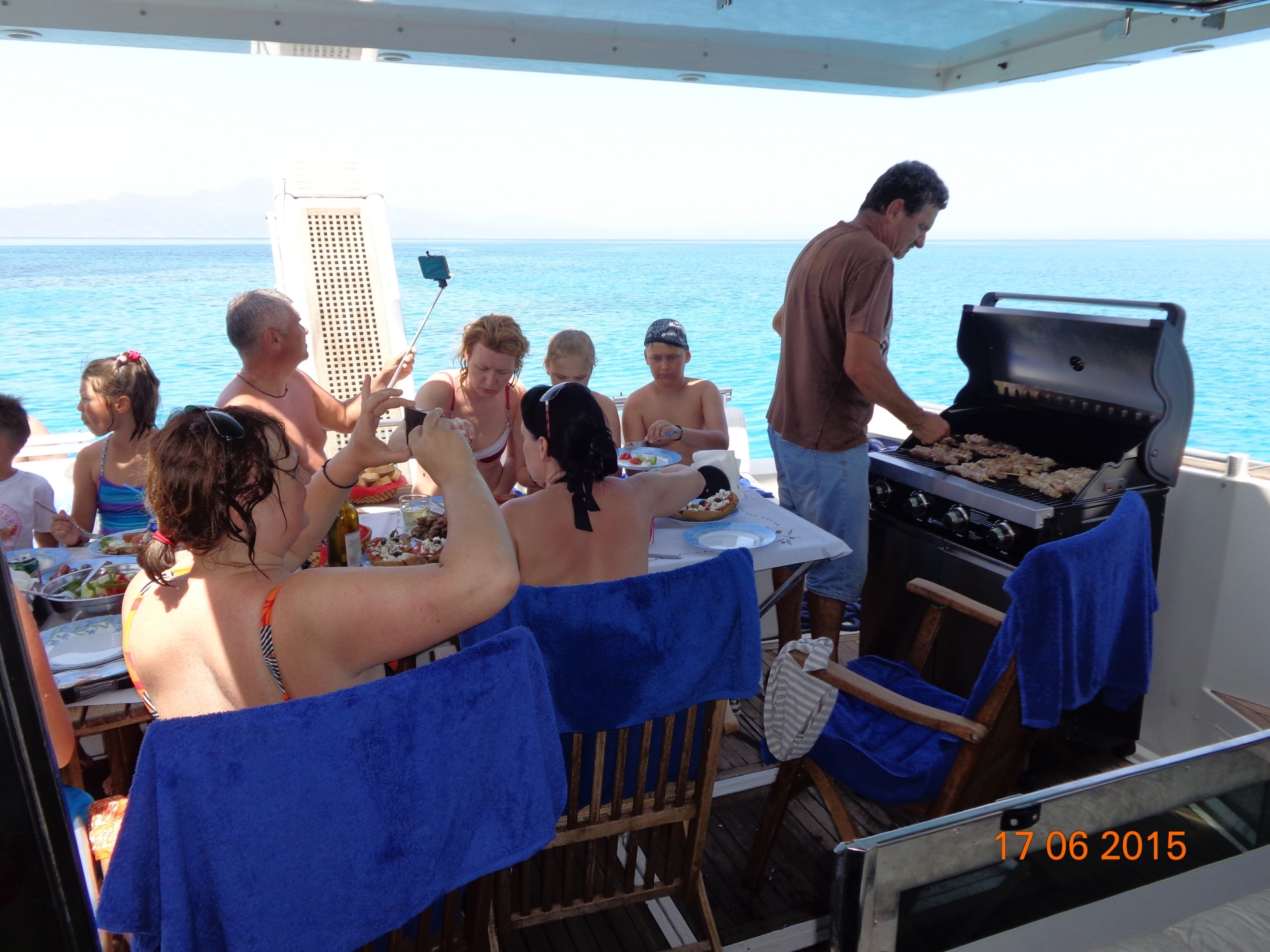 Barbeque on the sea